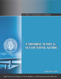 Uniform Audit and Accounting Guide: For Audits of Transportation Consultants' Indirect Cost Rates