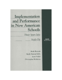 Implementation and Performance in New American Schools