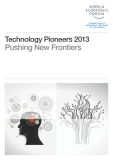 Technology Pioneers 2013 Pushing New Frontiers