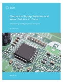 Electronics Supply Networks and  Water Pollution in China: Understanding and Mitigating Potential Impacts