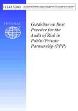Guideline on Best  Practice for the  Audit of Risk in  Public/Private  Partnership (PPP)