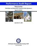 King County Solid Waste and Wastewater Treatment Utility Operations