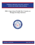 FHFA'S SUPERVISION OF FREDDIE MAC'S CONTROLS OVER MORTGAGE SERVICING CONTRACTORS