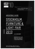ARCHITONIC guide stockho lm Furniture  & Light Fair 2013