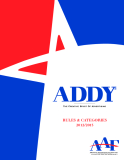 ADDY THE CREATIVE SPIRIT OF ADVERTISING RULES & CATEGORIES 2012/2013