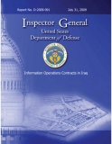 INSPECTOR GENERAL UNITED STATES DEPARTMENT OF DEFENSE INFORMATION OPERATIONS CONTRACTS IN IRAQ