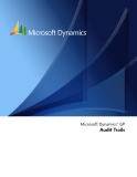 Microsoft Dynamics™ GP Audit Trails