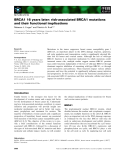 Báo cáo khoa học: BRCA1 16 years later: risk-associated BRCA1 mutations and their functional implications