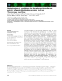 Báo cáo khoa học: Optimization of conditions for the glycosyltransferase activity of penicillin-binding protein 1a from Thermotoga maritima