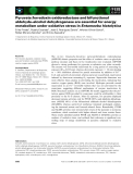 Báo cáo khoa học: Pyruvate:ferredoxin oxidoreductase and bifunctional aldehyde–alcohol dehydrogenase are essential for energy metabolism under oxidative stress in Entamoeba histolytica