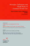 Principles, Defi nitions and Model Rules of European Private Law