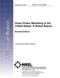 Green Power Marketing in the   United States: A Status Report