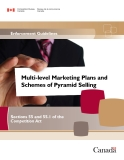Multi-level Marketing Plans and  Schemes of Pyramid Selling