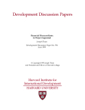 Development Discussion Papers