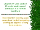 Case Study in Financial Modeling and Simulation of a Forestry Investment