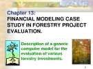 Chapter 13:FINANCIAL MODELING CASE STUDY IN FORESTRY PROJECT EVALUATION.