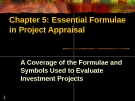 Essential Formulae in Project Appraisal