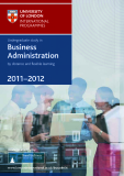 Undergraduate study in Business  Administration by distance and fl exible learning 2011–2012