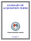 GLOSSARY OF ACQUISITION TERMS 1998