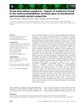 Báo cáo khoa học: Acute intermittent porphyria – impact of mutations found in the hydroxymethylbilane synthase gene on biochemical and enzymatic protein properties