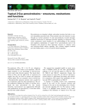 Báo cáo khoa học: Typical 2-Cys peroxiredoxins – structures, mechanisms and functions