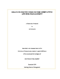 "Research "" ESSAYS ON PRICING FIXED INCOME DERIVATIVES AND RISK MANAGEMENT """