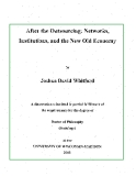 "Research "" After the Outsourcing: Networks, Institutions, and the New Old Economy  """