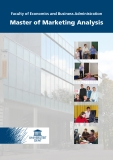 Faculty of Economics and Business Administration Master of Marketing Analysis
