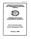 SYSTEM LIFE CYCLE MANAGEMENT GUIDANCE: PRACTICE PAPER PROJECT MANAGEMENT PLAN