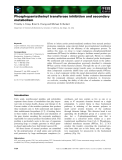 Báo cáo khoa học: Phosphopantetheinyl transferase inhibition and secondary metabolism