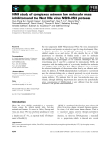 Báo cáo khoa học: NMR study of complexes between low molecular mass inhibitors and the West Nile virus NS2B–NS3 protease