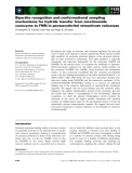 Báo cáo khoa học: Bipartite recognition and conformational sampling mechanisms for hydride transfer from nicotinamide coenzyme to FMN in pentaerythritol tetranitrate reductase