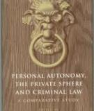 PERSONAL AUTONOMY, THE PRIVATE SPHERE AND THE CRIMINAL LAW