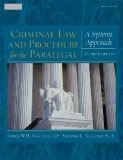 CRIMINAL LAW AND PROCEDURE FOR THE PARALEGAL ASYSTEMS APPROACH Third Edition