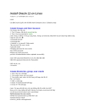 Install Oracle 11 on Linux