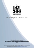The clients' guide to national law firms - Editorial submission request – INVESTMENT FUND FORMATION AND MANAGEMENT 2013