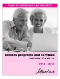 Seniors programs and services information Guide 2012 – 2013