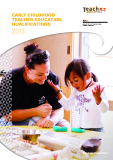 Early Childhood Teacher Education Qualifications 2013