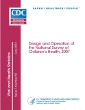 Design and Operation of the National Survey of Children's Health, 2007