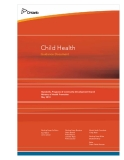 Child Health Guidance Document - Standards, Programs & Community Development Branch Ministry of Health Promotion