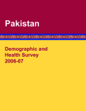 Demographic and  Health Survey 2006-07 Pakistan