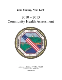 Erie County, New York    2010 – 2013   Community Health Assessment