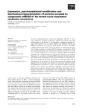 Báo cáo khoa học: Expression, post-translational modification and biochemical characterization of proteins encoded by subgenomic mRNA8 of the severe acute respiratory syndrome coronavirus