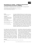Báo cáo khoa học: Something from nothing ) bridging the gap between constraint-based and kinetic modelling
