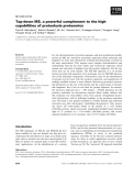 Báo cáo khoa học: Top-down MS, a powerful complement to the high capabilities of proteolysis proteomics