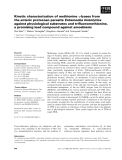 Báo cáo khoa học: Kinetic characterization of methionine c-lyases from the enteric protozoan parasite Entamoeba histolytica against physiological substrates and trifluoromethionine, a promising lead compound against amoebiasis