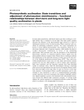 Báo cáo khoa học: Photosynthetic acclimation: State transitions and adjustment of photosystem stoichiometry – functional relationships between short-term and long-term light quality acclimation in plants