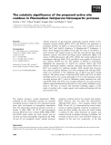 Báo cáo khoa học: The catalytic significance of the proposed active site residues in Plasmodium falciparum histoaspartic protease