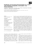 Báo cáo khoa học: Purification and structural characterization of a D-amino acid-containing conopeptide, conomarphin, from Conus marmoreus