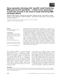 Báo cáo khoa học: Gene expression silencing with 'specific' small interfering RNA goes beyond specificity – a study of key parameters to take into account in the onset of small interfering RNA off-target effects